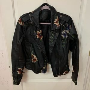 Blank NYC Floral Embroidered Jacket